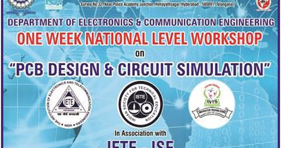 "One week National Level workshop on "" PCB DESIGN & CIRCUIT SIMULATION"