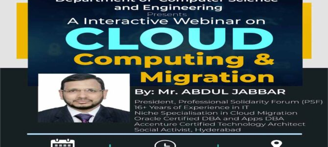 Cloud Computing and Migration