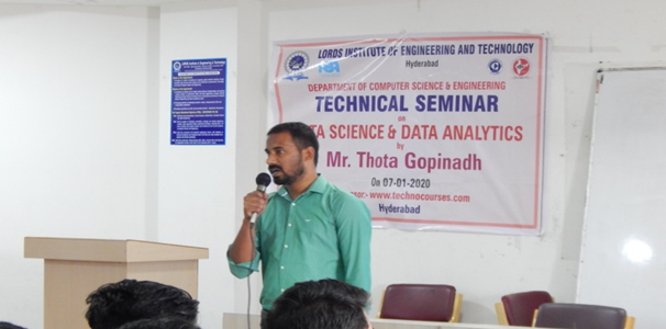 "Technical Seminar on ""Data Science and Data Analytics"""