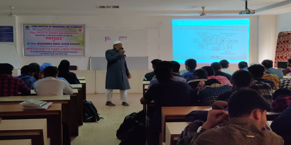 Expert Lecture on Engineering Physics