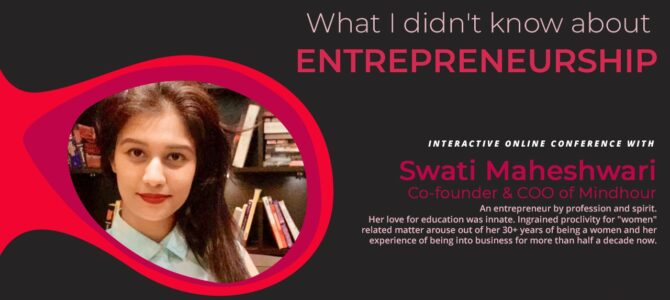 What I didn't know about Entrepreneurship