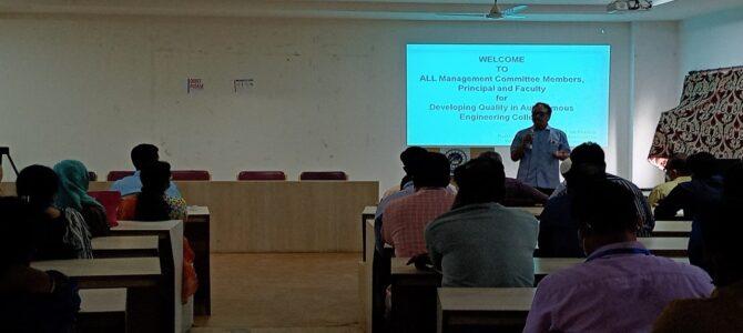 Developing Qualities in Autonomous Institute