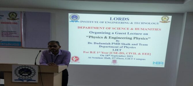 Guest Lecture on Engineering Physics